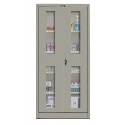 Hallowell - 425S18EV-HG - Storage Cabinet, Gray, 72 Overall Height, Unassembled