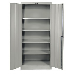 Hallowell - 415S18A-HG - Storage Cabinet, Gray, 72 Overall Height, Assembled