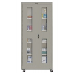 Hallowell - 415S24EVMA-HG - Mobile Storage Cabinet, Gray, 72 Overall Height, Assembled