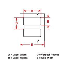 Brady - THT-25-423-1 - White Label, 4 Width