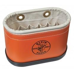 Klein Tools - 5144BHB - Tool Storage Bucket, Orange Plastic Exterior, Canvas Interior, Polypropylene Bottom