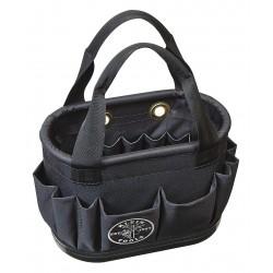 Klein Tools - 5144BHB14OS - Aerial Bucket, Black Denier Polyester Body, Polypropylene Bottom