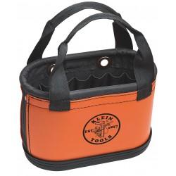 Klein Tools - 5144HBS - Tool Storage Bucket, Orange Plastic Exterior, Denier Polyester Interior, Polypropylene Bottom