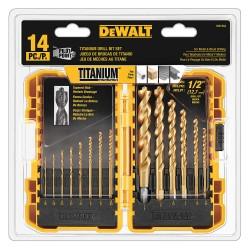 """Dewalt - DW1354 - 14pc Titanium Pp Drill Bit Set W/1/2"""""""