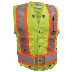 Viking - 6165G-XXXL - Surveyor Vest, Mens, ANSI CLASS 2, Grn, 3XL