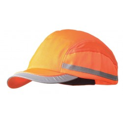 Bon-Mar - SCARAP1ORG - Orange Inner ABS Polymer, Outer Nylon Bump Cap, Style: All Season Baseball, Fits Hat Size: 7 to 7-3/