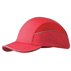 Bon-Mar - SCARAP1RED - Red Inner ABS Polymer, Outer Nylon Bump Cap, Style: All Season Baseball, Fits Hat Size: 7 to 7-3/4