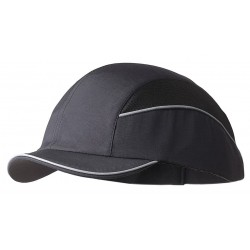 Bon-Mar - SCARAP3BLK - Black Inner ABS Polymer, Outer Nylon Bump Cap, Style: Short Peak Baseball, Fits Hat Size: 7 to 7-3/4