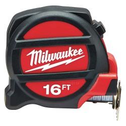 Milwaukee Electric Tool - 48-22-5117 - 16 ft. Steel SAE Tape Measure, Black/Red
