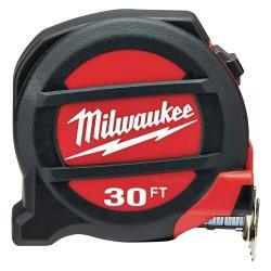 Milwaukee Electric Tool - 48-22-5131 - 30 ft. Steel SAE Tape Measure, Black/Red