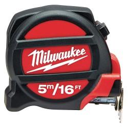 Milwaukee Electric Tool - 48-22-5217 - 16 ft./5m Steel SAE/Metric Tape Measure, Black/Red