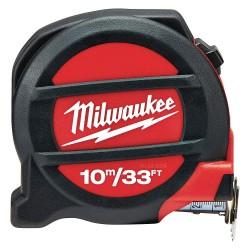 Milwaukee Electric Tool - 48-22-5234 - 33 ft./10m Steel SAE/Metric Tape Measure, Black/Red