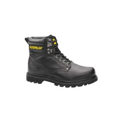 Caterpillar (CAT) - P70043 - 6H Men's Work Boots, Plain Toe Type, Leather Upper Material, Black, Size 6-1/2