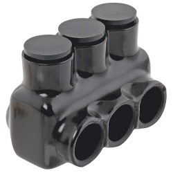 Polaris Electrical Connectors - IPL3/0-4B - 3.41L 4-Port Insulated Multitap Connector, Single-Sided Entry, L, 3/0 AWG Max. Conductor Size