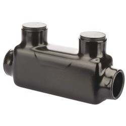 Polaris Electrical Connectors - ISR-600B - 5.83L 2-Port Insulated Multitap Connector, Double-Sided Entry, T, 600 kcmil Max. Conductor Size