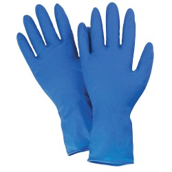 "West Chester - 2550/M - 11"" Powder Free Unlined Latex Disposable Gloves, Blue, Size M, 50PK"