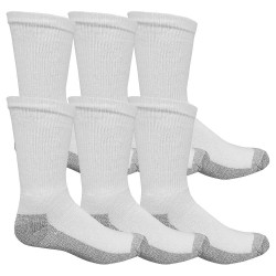 Fruit Of The Loom - M8021W6-12-SP - Men's 10 Socks, White, 6 PK