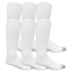 Fruit Of The Loom - M8218W6-12-SP - Men's 10 Socks, White, 6 PK