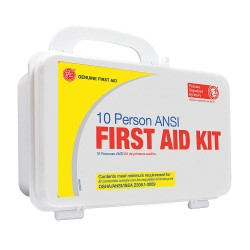 Tender - 9999-2128 - First Aid Kit, Kit, Plastic Case Material, Industrial, 10 People Served Per Kit