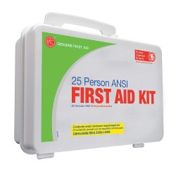 Tender - 9999-2129 - First Aid Kit, Kit, Plastic Case Material, Industrial, 25 People Served Per Kit