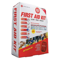 Tender - 9999-2302 - First Aid Kit, Kit, Nylon Case Material, Industrial, 25 People Served Per Kit