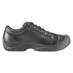 KEEN - 1006980 - 2-3/4H Men's Work Boots, Plain Toe Type, Leather Upper Material, Black, Size 11-1/2