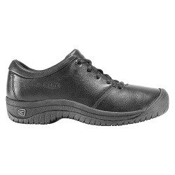 KEEN - 1006999 - 2-3/4H Women's Work Boots, Plain Toe Type, Leather Upper Material, Black, Size 7-1/2