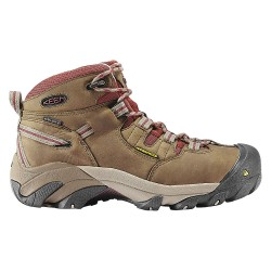 KEEN - 1007014 - Women's Work Boots, Steel Toe Type, Leather Upper Material, Brown, Size 6W