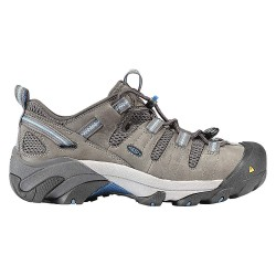 KEEN - 1007017 - LowH Women's Athletic Style Work Shoes, Steel Toe Type, Leather Upper Material, Gray, Size 11W