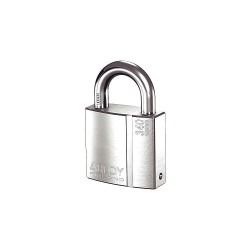 Abloy Security - PL340/25B-KD - 2-5/64H Different-Keyed Padlock, Shackle Type: Open 1H x 3/8, Silver