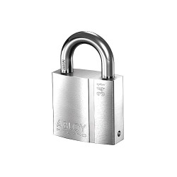 Abloy Security - PL341/25B-KD - 2-5/64H Different-Keyed Padlock, Shackle Type: Open 1H x 3/8, Silver