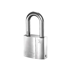 Abloy Security - PL341/50B-KA - 2-5/64H Alike-Keyed Padlock, Shackle Type: Open 2H x 3/8, Silver