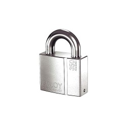 Abloy Security - PLI350/25B-KD - 2-17/64H Different-Keyed Padlock, Shackle Type: Open 1H x 17/32, Silver