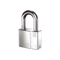 Abloy Security - PLI350/50B-KD - 2-17/64H Different-Keyed Padlock, Shackle Type: Open 2H x 17/32, Silver
