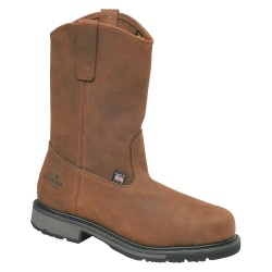 Weinbrenner Shoe - 804-4823 - 12H Men's Wellington Boots, Steel Toe Type, Leather Upper Material, Brown, Size 7B