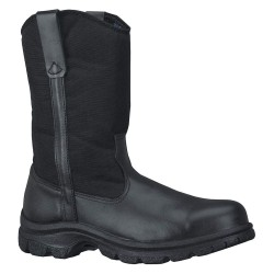 Weinbrenner Shoe - 804-6111 - 10H Men's Wellington Boots, Steel Toe Type, Leather/Nylon Upper Material, Black, Size 10-1/2M