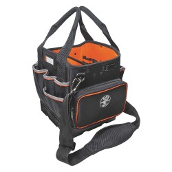 Klein Tools - 5541610-14 - Klein Tools Tradesman Pro Carrying Case (Tote) for Tools, Accessories - Black - 1680D Ballistic Weave - Shoulder Strap, Handle - 12.3 Height x 10 Width x 10.3 Depth