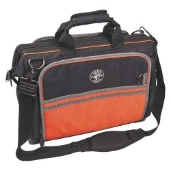 Klein Tools - 554181914 - 55-Pocket Polyester Electricians Wide-Mouth Tool Bag, 16H x 19W x 6-1/2D, Black