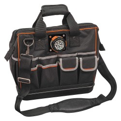 Klein Tools - 55431 - Klein Tools Tradesman Pro Carrying Case for Tools - Black - 1680D Ballistic Weave - Shoulder Strap, Handle - 14 Height x 15.3 Width x 8 Depth