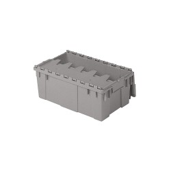 Buckhorn / Myers Industries - AR2012070201000 - Attached Lid Container, Gray, 7-1/2H x 20L x 11-11/16W, 1EA