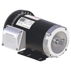 Weg - .3336ES3E56-S - 1/3 HP General Purpose Motor, 3-Phase, 3485 Nameplate RPM, Voltage 208-230/460, Frame 56
