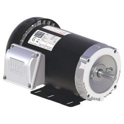 Weg - .5018ES3E56C-S - 1/2 HP General Purpose Motor, 3-Phase, 1760 Nameplate RPM, Voltage 208-230/460, Frame 56C