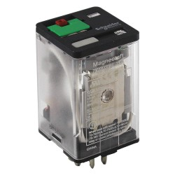 Telemecanique / Schneider Electric - 750XBXRM4L-240A - 240VAC, 8-Pin Octal Base General Purpose Plug-In Relay; AC Contact Rating: 10A @ 277V