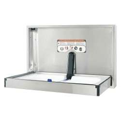 Foundations - 100SS-R - Baby Changing Station, Horizontal, Recessed Mount, 304 Stainless Steel, 16 ga.