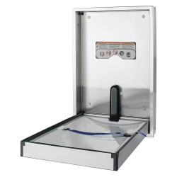 Foundations - 100SSV-SM - Baby Changing Station, Vertical, Flush Mount, 304 Stainless Steel, 16 ga.