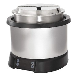 The Vollrath Company - 74110110 - 11 qt. Polycarbonate/Aluminum Induction Rethermalizer, Silver