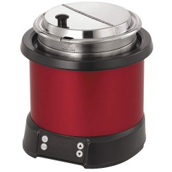 The Vollrath Company - 74110140 - 11 qt. Polycarbonate/Aluminum Induction Rethermalizer, Red