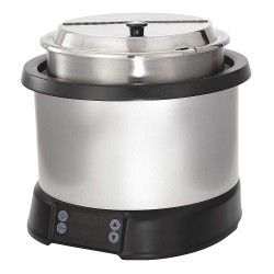 The Vollrath Company - 7470110 - 7 qt. Polycarbonate/Aluminum Induction Rethermalizer, Silver