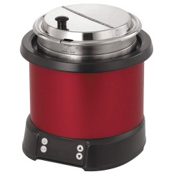 The Vollrath Company - 7470140 - 7 qt. Polycarbonate/Aluminum Induction Rethermalizer, Red