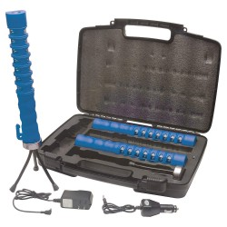 Aervoe - 1156X - Flare/Baton Combo Kit, 7 hr. Steady, Up to 16 hr. Flashing, Blue/Red, 14 to 122 F